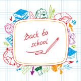 Back to school, school background of school Stock Photography