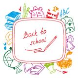 Back to school, school background of school Stock Images