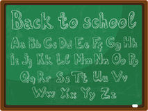 Back to school - the school board with alphabet Royalty Free Stock Image