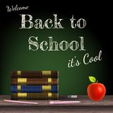 Back to school, school books. EPS 10 Royalty Free Stock Photos
