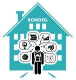 Back to school. School days. vector illustration