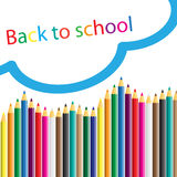 Back to school, school design over white background Royalty Free Stock Photo