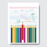 Back to school, school design over white background Royalty Free Stock Image