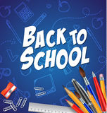 Back to school with school materials Royalty Free Stock Photos