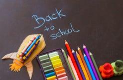 Back to school, school supplies stock images