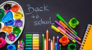 Back to school, school supplies stock image