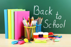 Back to school. School supplies Royalty Free Stock Photography