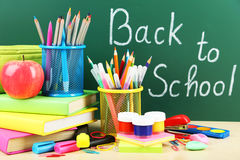 Back to school. School supplies Stock Photo