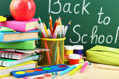 Back to school. School supplies Stock Photos