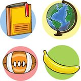 Back to school,vector school supplies Royalty Free Stock Photos