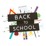 Back to School with school supplies. Vector illustration. Back to School with school supplies. Vector illustration Royalty Free Stock Photo