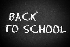 Back to school, school or university blackboard Royalty Free Stock Photography