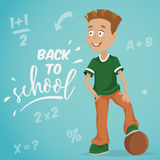 Back to school. Schoolboy with ball. Stock Photos