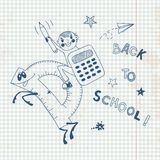 Back to school. Schoolboy endearing knowledge. Vector illustration Stock Image