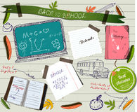 Back to school scrapbooking poster. Stock Images