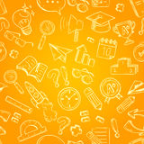 Back to school seamless pattern Royalty Free Stock Image