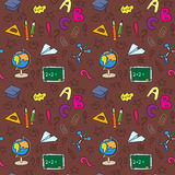 Back to school seamless pattern Royalty Free Stock Photography