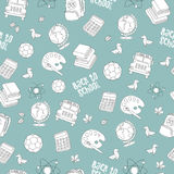 Back to school seamless pattern featuring school life objects   Royalty Free Stock Image