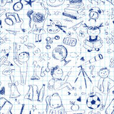 Back to school seamless pattern Royalty Free Stock Photo