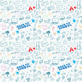 Back to School seamless pattern with Hand-Drawn Doodles. sketch element background Vector Illustration Stock Images
