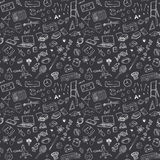 Back to School seamless pattern with Hand-Drawn Doodles. sketch element background Vector Illustration Royalty Free Stock Image