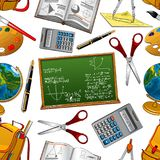 Back to School vector seamless pattern Royalty Free Stock Photo