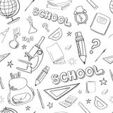 Back to school seamless pattern Stock Photography