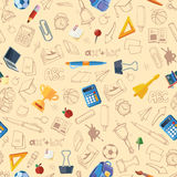 Back to school seamless pattern Stock Photo