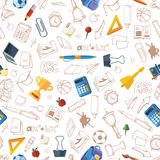 Back to school seamless pattern Royalty Free Stock Images