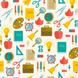 Back to school seamless pattern Stock Image