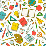 Back to school seamless pattern Royalty Free Stock Photos