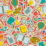 Back to school seamless pattern Stock Photos