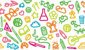 Back to school. Seamless pattern. Vector Stock Image