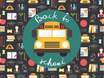 Back to school seamless pattern vector Royalty Free Stock Photography