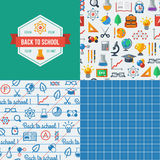 Back to school seamless patterns. Royalty Free Stock Images