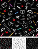 Back to School Seamless Tiles Backgrounds Royalty Free Stock Images