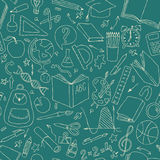 Back to school seamless vector pattern. Good for textile fabric design, wrapping paper and website wallpapers Royalty Free Stock Photo