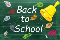 Back To School. 1 September the inscription on chalk blackboard. Green classroom blackboard. 1 September the inscription on chalk blackboard. Back To School stock illustration