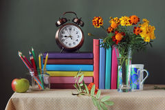 Back to school. September 1, knowledge day. The teacher`s day. Stock Photography