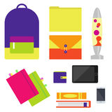 Back to school set Stock Images