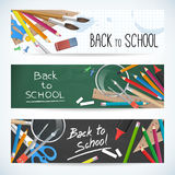 Back to school set  banner Royalty Free Stock Image