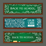 Back to school. Set with banners on education theme for web site Stock Photo