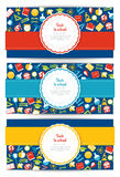 Back to school set. Of banners and icons Royalty Free Stock Images