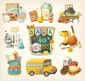 Back to school set Stock Photos