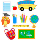 Back to school set of images Royalty Free Stock Images