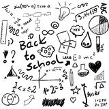Back to school - set of school doodle illustrations,  Royalty Free Stock Photo