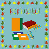 Back to school. set of school items Royalty Free Stock Images
