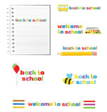 Back to school, set of signs, vector. Royalty Free Stock Images