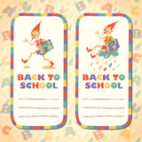Back to school. Set of stickers. Hero of fairy story. Stock Photos