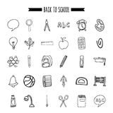Back to school set supplies icon. Vector illustration design Stock Photography